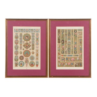 Renaissance Style Early 20th Century Chromoithographs - A Pair For Sale