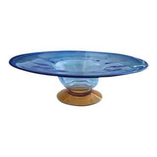 Blenko Two-Tone Centerpiece Bowl For Sale