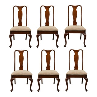 Henry Link Queen Anne Style Dining Side Chairs - Set of 6 For Sale