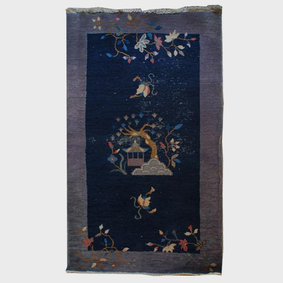 Antique Chinese Deco Peking Carpet For Sale - Image 4 of 4