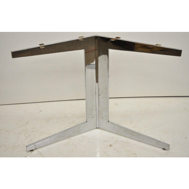 Mid-Century Modern Mid-Century Modern Chrome Steel Double Star Pedestal Dining Table Bases - a Pair For Sale - Image 3 of 13