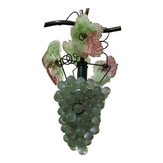 Estate Colored Venetian Glass Grape Light, Circa 1950's.