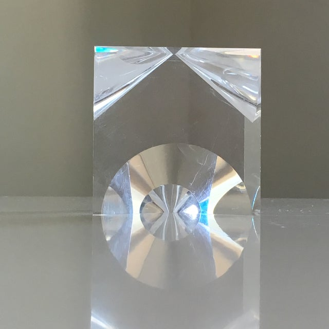 Transparent 1960s Mid-Century Modern Alessio Tasca Lucite Cube Sculpture For Sale - Image 8 of 11
