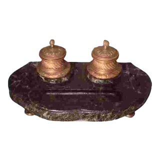 19th Cent. French Desk Inkwell For Sale