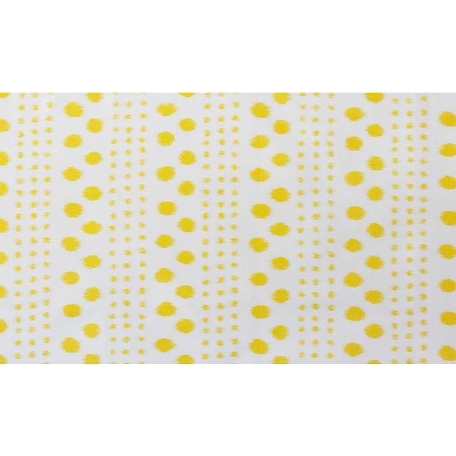 Transitional Virginia Kraft Polkat Fabric, Sample in Marigold For Sale - Image 3 of 3