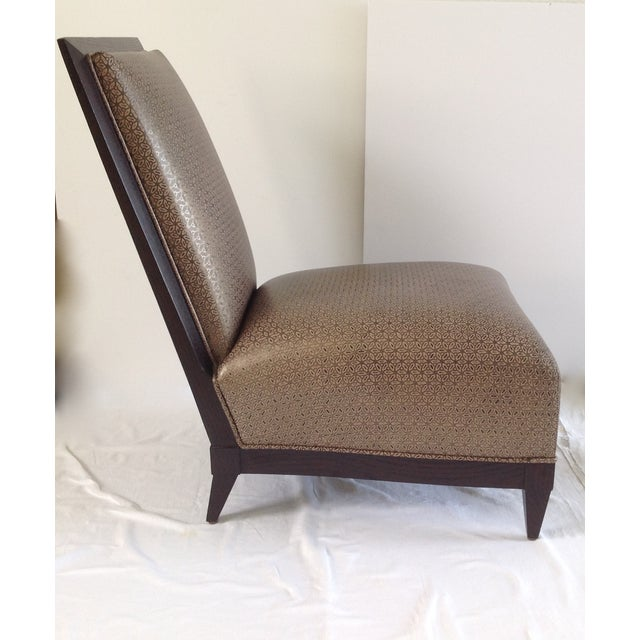 Brown Donghia Panama Occasional Chairs - A Pair For Sale - Image 8 of 11