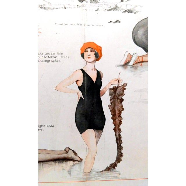 1918 La Vie Parisienne Bathing Beauty Print - Image 5 of 7