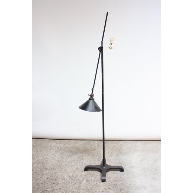 1930s Vintage Industrial Articulating Floor Lamp by o.c. White For Sale - Image 5 of 13