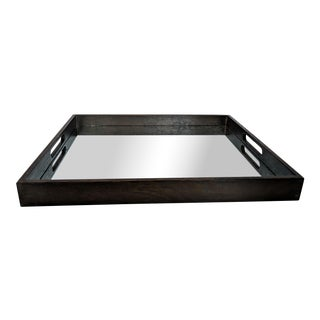 Notre Monde Antiqued Mirrored Tray For Sale