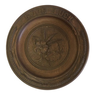 Hand Carved Polish Wooden Plate For Sale