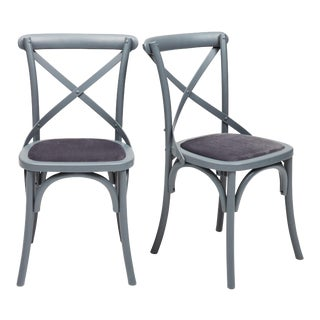 Nimes Chair in Gray - a Pair For Sale