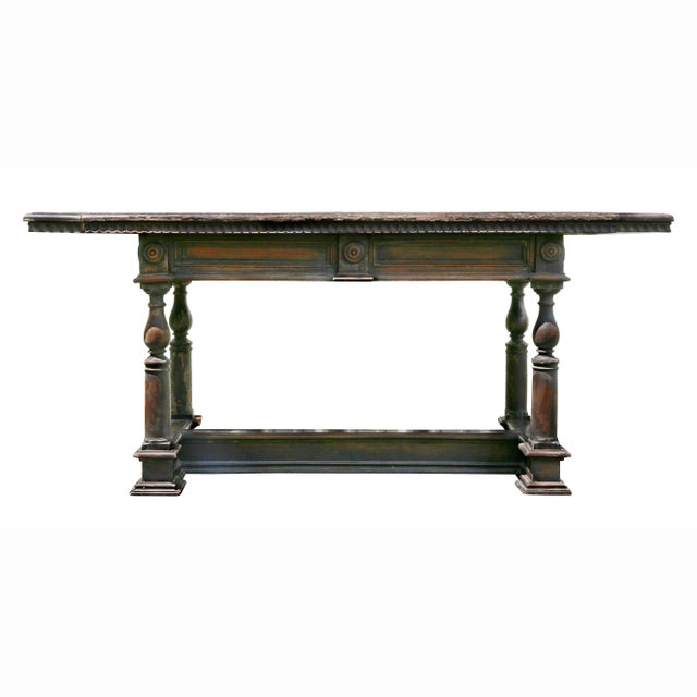 Italian Baroque Walnut Side Table For Sale - Image 11 of 12