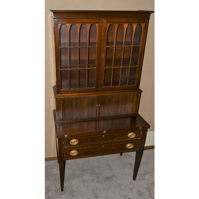 Antique Federal Style Mahogany Secretary For Sale - Image 9 of 12