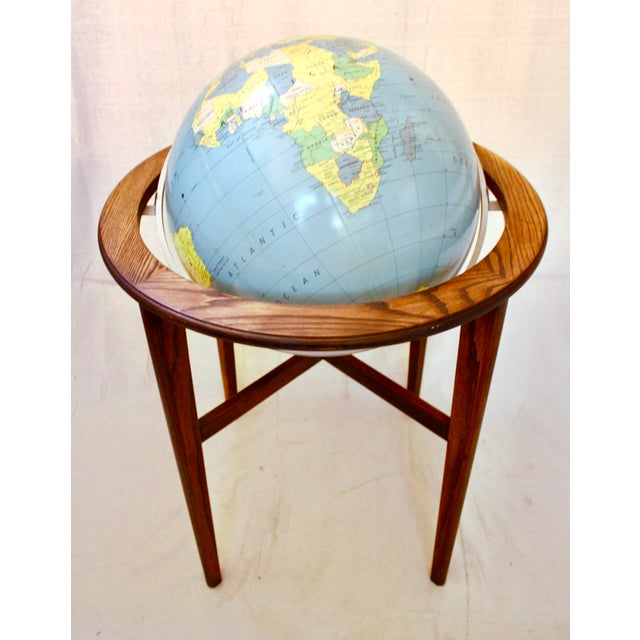 A J Nystrom & Co. 1968 Standing Library Globe For Sale In Sacramento - Image 6 of 12