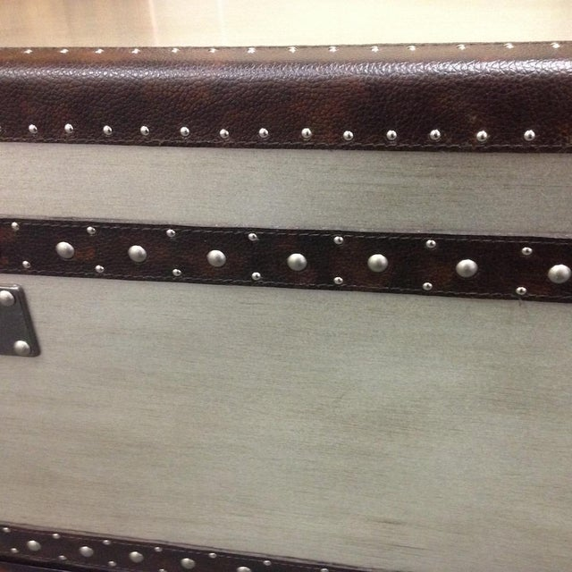 Silver Leaf Hardwood Trunk Style Table - Image 5 of 5