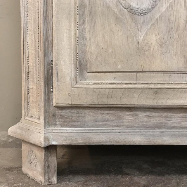Wood 19th Century Country French Louis XVI Stripped Buffet a Deux Corps For Sale - Image 7 of 13