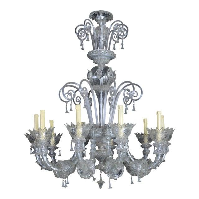 1900s Italian Murano Glass 10-Light Chandelier For Sale
