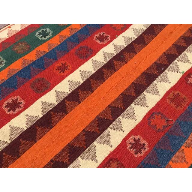 1960s Colorful Vintage Kilim Rug For Sale - Image 5 of 10