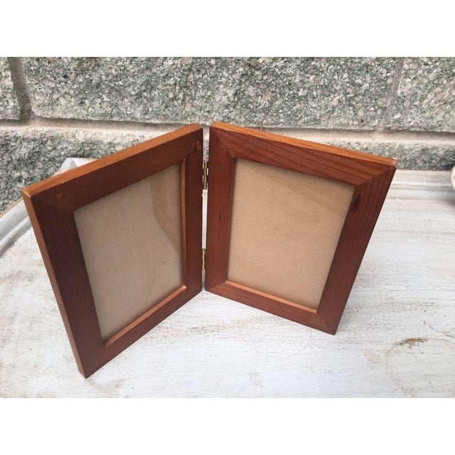 Rustic Wood Double Picture Frame - Image 2 of 4