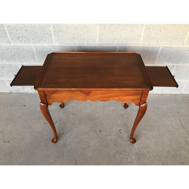 Queen Anne Statton Old Towne Solid Cherry Queen Anne Tea Table For Sale - Image 3 of 8