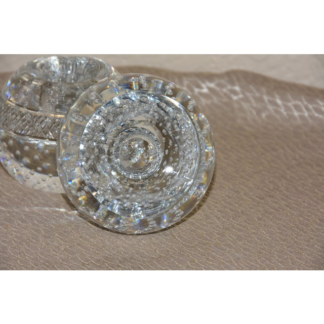 Mid-Century Crystal Match Holder With Striker Marked Webb For Sale - Image 10 of 12