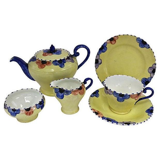 Vintage English Pansy Single Tea Set for One - Image 1 of 3