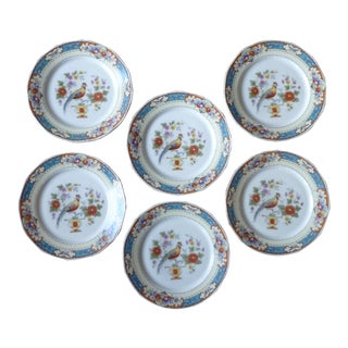 Vintage Chinoiserie Small Plates - Set of 6 For Sale