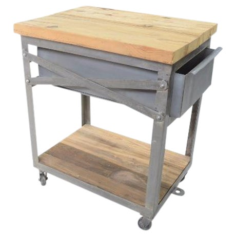 Industrial Bedside Tables - A Pair For Sale