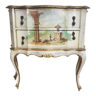 Early 20th Century Antique Louis XV Style Italian Commode Dresser For Sale