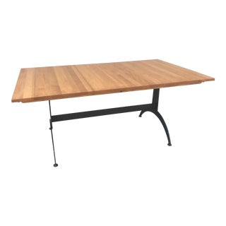 Contemporary Ethan Allen Maple Dining Farmhouse Table For Sale