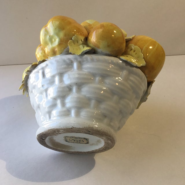 Mid 20th Century Majolica Vegetable Basket For Sale - Image 9 of 13