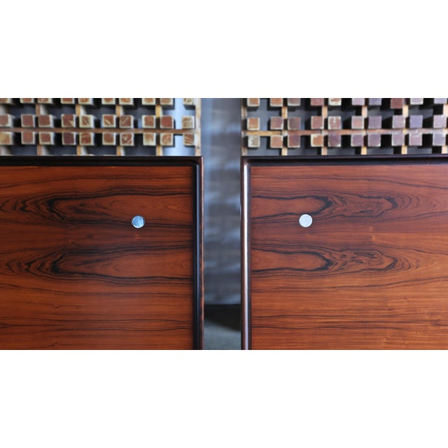 Jens Quistgaard Rare Pair of Rosewood Tables for Nissen Denmark, 1960 For Sale - Image 11 of 13