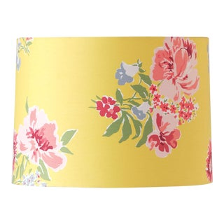Large Madcap Cottage Floral Fabric Lamp Shade For Sale