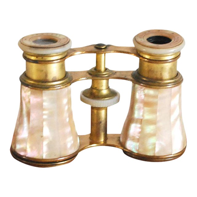 Antique French Mother of Pearl Opera Glasses For Sale