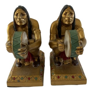 J. Ruhl Warrior Art Deco Bookends - a Pair For Sale