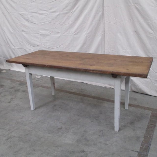 Antique Danish Rustic Painted Dining Table For Sale - Image 9 of 9