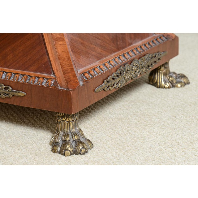 Regency Style Granite Top Oversize Library Table With Bronze Claw Feet For Sale - Image 10 of 12