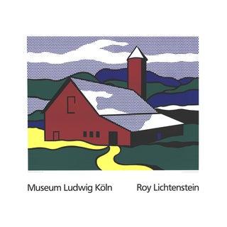 Roy Lichtenstein - Red Barn II (Lg) - 1989 For Sale