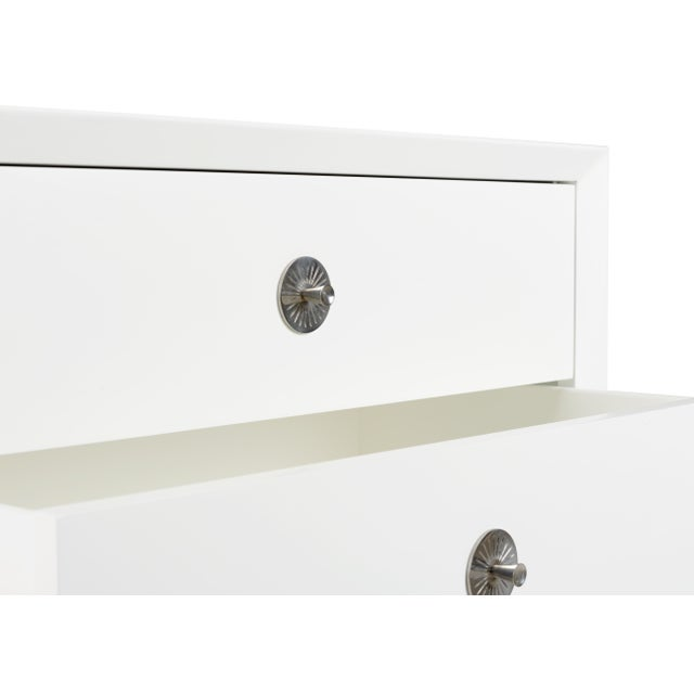Casa Cosima Casa Cosima Hayes 2-Drawer Side Chest, Cloud White For Sale - Image 4 of 5