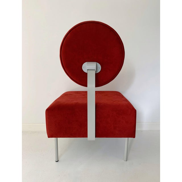 1980's Vintage Andreu World Contemporary Red Square Lounge Chair For Sale In Minneapolis - Image 6 of 8