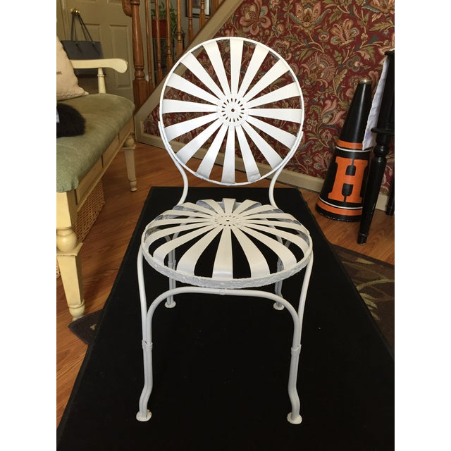 White Early 20th Century Vintage French Garden Chair For Sale - Image 8 of 8