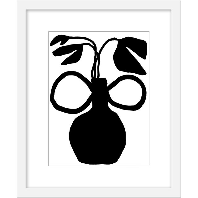 """Contemporary Small """"Unusual Vase Five"""" Print by Kate Roebuck, 15"""" X 18"""" For Sale - Image 3 of 3"""