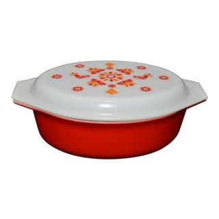 1970s Pyrex Friendship Casserole Dish