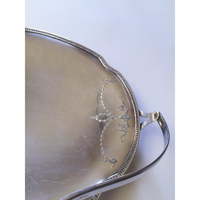 Victorian Church Bright Silver Communion Plate, Holiday Serving Tray - Image 7 of 10