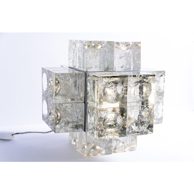Italian Murano Glass Italian Mid-Century Table Lamp by Albano Poli for Poliarte, 1960s For Sale - Image 3 of 12