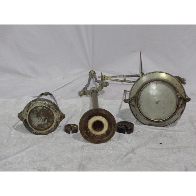 Antique French Industrial Butcher Scale - Image 5 of 8