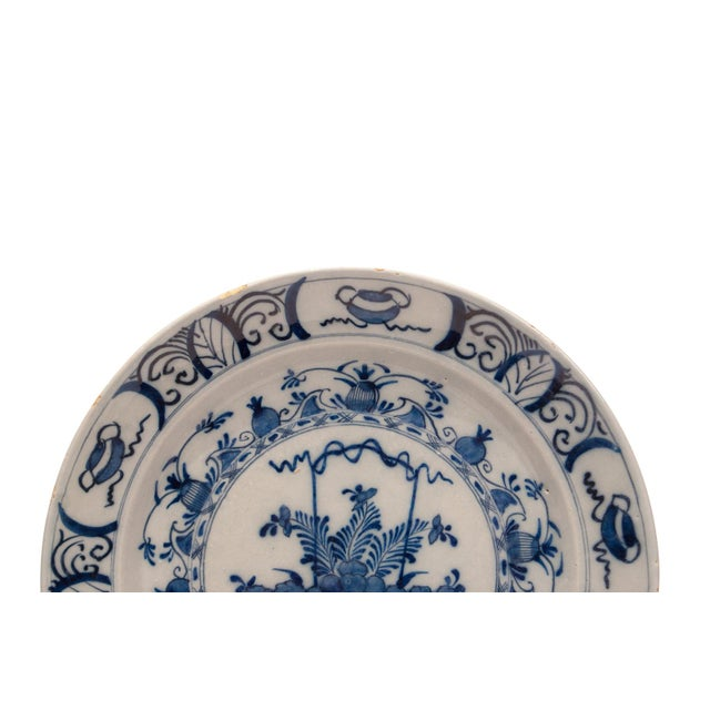 Cottage 17th - 18th Century Holland Delft Pottery Charge Plate For Sale - Image 3 of 7