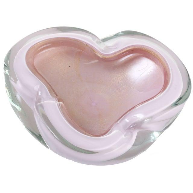 Handblown Pink Murano Bowl - Image 1 of 5