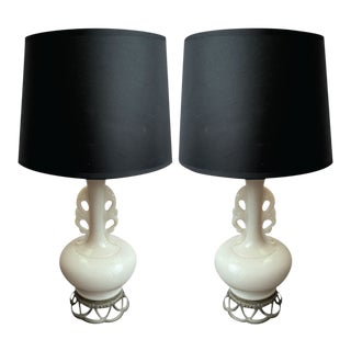 Antique Late 18th Century French Style Lamps - a Pair For Sale