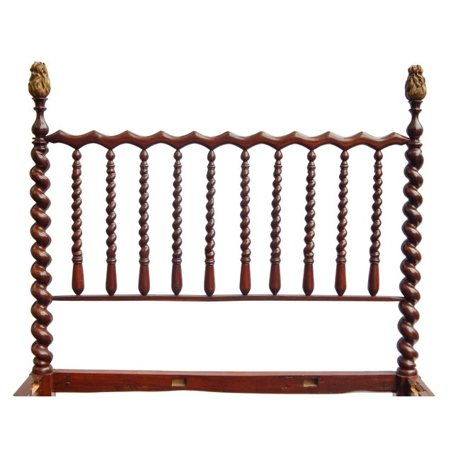 19th Century Barley Twist Full Bed For Sale In New York - Image 6 of 7